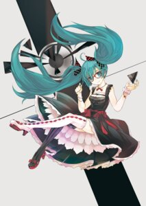 Rating: Safe Score: 37 Tags: hatsune_miku thighhighs tokichi vocaloid User: fireattack