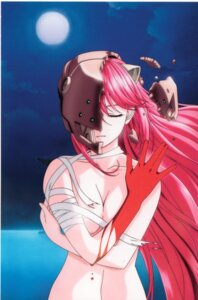 Rating: Questionable Score: 12 Tags: armor bandages blood breast_hold cleavage elfen_lied horns lucy naked User: Radioactive