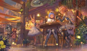 Rating: Safe Score: 34 Tags: alphonse animal_ears armor bunny_ears dress hangyakusei_million_arthur sword uniform waitress User: RyuZU