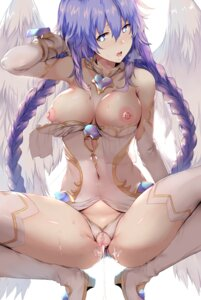 Rating: Explicit Score: 220 Tags: breasts choujigen_game_neptune cum heels hews nipples no_bra pantsu pubic_hair purple_heart pussy thighhighs uncensored wings User: Mr_GT