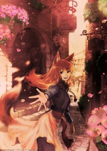 Rating: Safe Score: 10 Tags: animal_ears holo ida_rintarou mkray skirt_lift spice_and_wolf tail User: dick_dickinson