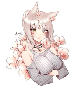 Rating: Safe Score: 46 Tags: animal_ears breast_hold chungu final_fantasy final_fantasy_xiv miqo'te nekomimi User: charunetra