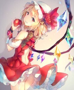 Rating: Questionable Score: 53 Tags: ass deecha flandre_scarlet no_bra pantsu skirt_lift thong touhou wings User: Mr_GT