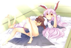 Rating: Questionable Score: 49 Tags: animal_ears bloomers bunny_ears ichi_makoto inaba_tewi loli nopan reisen_udongein_inaba topless touhou User: inumimi.7
