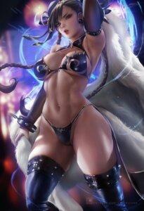 Rating: Safe Score: 92 Tags: bikini_armor chun_li sakimichan street_fighter thighhighs User: allanlee619