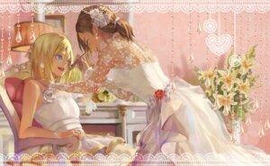 Rating: Safe Score: 40 Tags: christa_lenz dress shingeki_no_kyojin wedding_dress ymir_(shingeki_no_kyojin) yuri yuukaku User: Radioactive