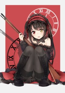 Rating: Questionable Score: 68 Tags: date_a_live dress gothic_lolita gun heterochromia lolita_fashion pantsu pantyhose tokisaki_kurumi weapon yukinoshita_(shaonjishi) User: RyuZU