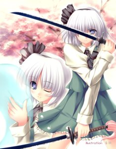 Rating: Safe Score: 17 Tags: konpaku_youmu sword tateha touhou User: Shamensyth