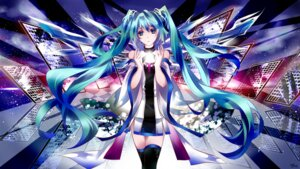 Rating: Safe Score: 26 Tags: dress hatsune_miku thighhighs tyouya vocaloid User: charunetra
