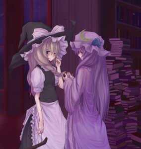 Rating: Safe Score: 7 Tags: kirisame_marisa patchouli_knowledge touhou User: Davison