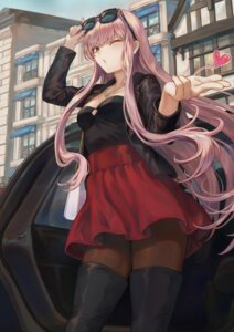 Rating: Safe Score: 44 Tags: cleavage fate/grand_order mashu_(003) medb_(fate/grand_order) megane pantyhose thighhighs User: Mr_GT