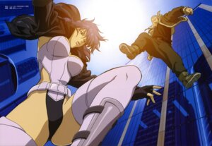 Rating: Safe Score: 10 Tags: asano_kyouji batou ghost_in_the_shell kusanagi_motoko leotard overfiltered thighhighs User: Wraith