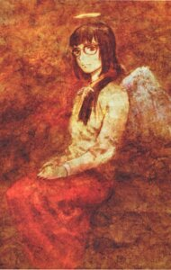 Rating: Safe Score: 3 Tags: abe_yoshitoshi haibane_renmei kuramori megane wings User: Radioactive