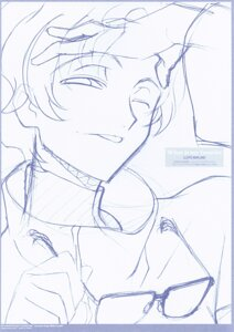 Rating: Safe Score: 3 Tags: code_geass lloyd_asplund male monochrome ochiai_hitomi sketch User: hirotn