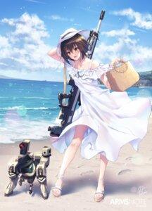 Rating: Questionable Score: 22 Tags: dress fukai_ryosuke gun see_through skirt_lift summer_dress User: Dreista