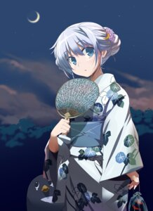 Rating: Safe Score: 45 Tags: kantai_collection pu-chin yayoi_(kancolle) yukata User: Mr_GT