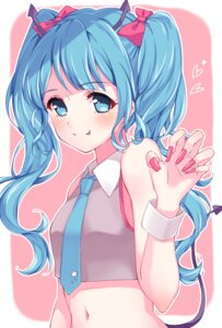 Rating: Safe Score: 35 Tags: hatsune_miku horns miyawa_honono tail vocaloid User: charunetra