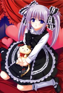 Rating: Safe Score: 30 Tags: dress lolita_fashion neko nishimata_aoi pointy_ears primula shuffle User: fireattack