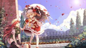 Rating: Safe Score: 27 Tags: flandre_scarlet hong_meiling kaze_yetworldview pantyhose thighhighs touhou umbrella wings User: Mr_GT
