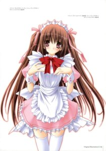 Rating: Safe Score: 25 Tags: amane_sou dreamparty maid thighhighs User: Radioactive