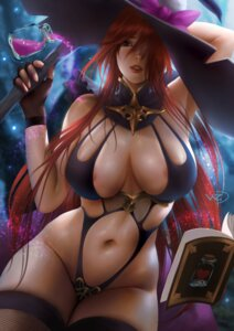 Rating: Questionable Score: 40 Tags: areola fishnets leotard no_bra thighhighs witch z:d User: mash