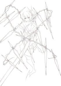 Rating: Questionable Score: 5 Tags: flandre_scarlet line_art loli monochrome naked noirly touhou User: Radioactive