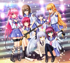 Rating: Safe Score: 15 Tags: angel_beats! disc_cover garter guitar hisako irie_(angel_beats!) iwasawa key na-ga seifuku sekine skirt_lift tenshi thighhighs wings yui_(angel_beats!) yurippe User: marechal