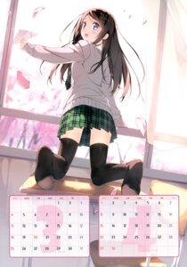 Rating: Safe Score: 75 Tags: 5_nenme_no_houkago calendar kantoku miyaguchi_hiromi seifuku thighhighs User: Hatsukoi
