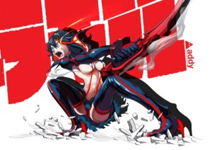 Rating: Questionable Score: 15 Tags: addy kill_la_kill matoi_ryuuko sword thighhighs underboob User: Konngara