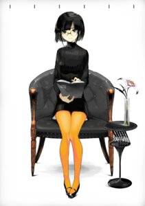 Rating: Safe Score: 41 Tags: dress megane pantyhose tokichi User: Mr_GT