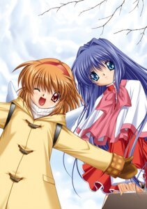 Rating: Safe Score: 5 Tags: hinoue_itaru kanon key minase_nayuki seifuku sweater tsukimiya_ayu User: marechal