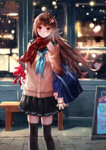 Rating: Safe Score: 42 Tags: seifuku sweater thighhighs valentine yuzuriha_(moon_yuzuriha) User: Mr_GT