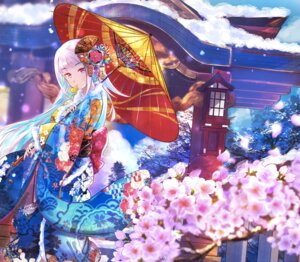 Rating: Safe Score: 22 Tags: anan kimono landscape lize_helesta nijisanji umbrella User: