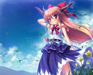 Rating: Safe Score: 37 Tags: horns ibuki_suika takeponi_an touhou User: fairyren