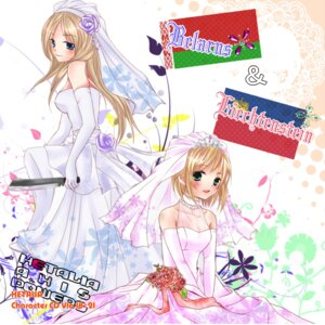 Rating: Safe Score: 9 Tags: belarus dress hetalia_axis_powers liechtenstein mike_(mikenekotei) wedding_dress User: Radioactive