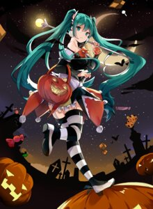 Rating: Safe Score: 36 Tags: dress halloween hatsune_miku heels hnanati stockings thighhighs vocaloid weapon User: Mr_GT