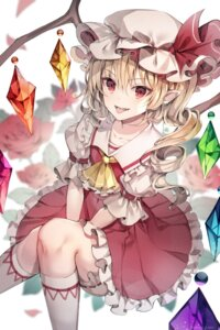 Rating: Safe Score: 17 Tags: bloomers flandre_scarlet pointy_ears skirt_lift touhou unity_(ekvmsp02) wings User: Dreista
