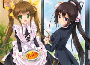Rating: Safe Score: 62 Tags: huang_lingyin infinite_stratos maid mitsu_king shinonono_houki User: Velociraptor