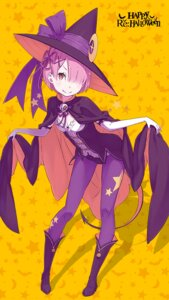 Rating: Safe Score: 58 Tags: cleavage halloween ootsuka_shinichirou pantyhose possibly_upscaled? ram_(re_zero) re_zero_kara_hajimeru_isekai_seikatsu tail witch User: kiyoe