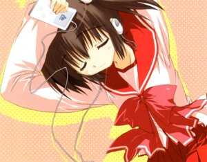 Rating: Safe Score: 16 Tags: headphones mitsumi_misato seifuku to_heart_2 to_heart_(series) yuzuhara_konomi User: fireattack