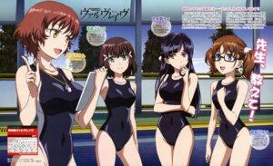 Rating: Safe Score: 64 Tags: kakumeiki_valvrave megane nagatomi_kouji nanami_rion rukino_saki sakurai_aina sashinami_shouko school_swimsuit swimsuits User: Radioactive