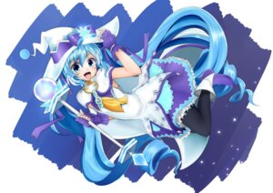 Rating: Safe Score: 20 Tags: dress hatsune_miku heels kazenoko pantyhose vocaloid weapon witch yuki_miku User: Mr_GT