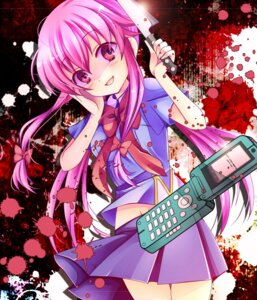 Rating: Questionable Score: 18 Tags: blood gasai_yuno mirai_nikki nekosugiayana seifuku User: 椎名深夏