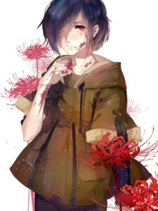 Rating: Safe Score: 20 Tags: blood dj.adonis kirishima_touka tokyo_ghoul User: charunetra