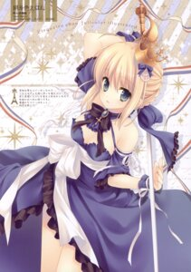 Rating: Safe Score: 58 Tags: cleavage dress fate/stay_night saber sword tatekawa_mako wnb User: crim