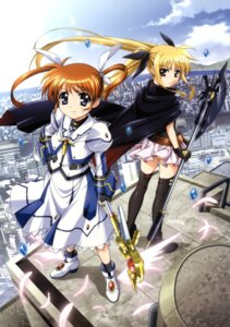Rating: Safe Score: 30 Tags: fate_testarossa leotard mahou_shoujo_lyrical_nanoha mahou_shoujo_lyrical_nanoha_the_movie_1st okuda_yasuhiro takamachi_nanoha thighhighs weapon User: kriman