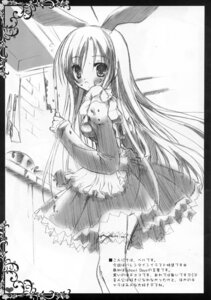 Rating: Safe Score: 12 Tags: animal_ears bunny_ears dress monochrome sketch thighhighs tinkle User: RICO740