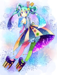 Rating: Safe Score: 13 Tags: hatsune_miku hoshino_kisora lolita_fashion pantyhose vocaloid User: mahoru