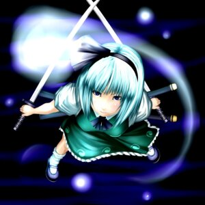 Rating: Safe Score: 7 Tags: aoinagi konpaku_youmu sword touhou User: Mogunzo