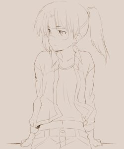Rating: Safe Score: 7 Tags: amasawa_yuuko dennou_coil kawata_hisashi sketch User: denim332